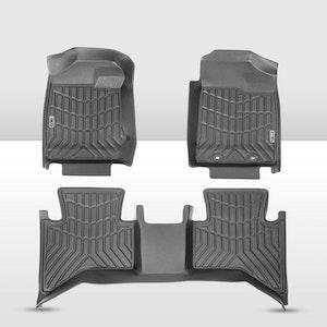 KIWI MASTER 3D TPE Floor Mats Fit ISUZU D-MAX DMAX Dual Cab MY 2012-2019
