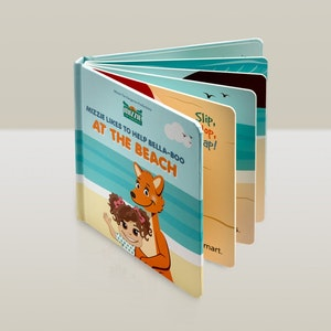 Mizzie the Kangaroo 'At The Beach' Interactive Touch and Feel Mizzie Baby Board Book