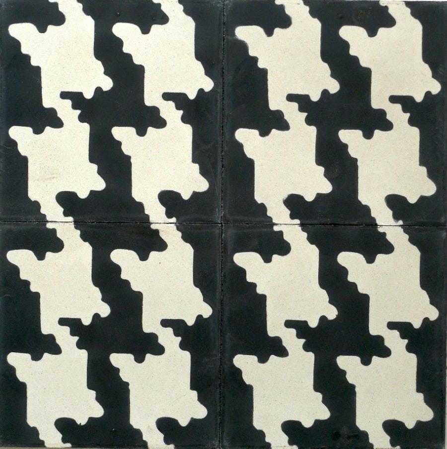 Popham Tiles Houndstooth Tile Cement Wall amp Floor