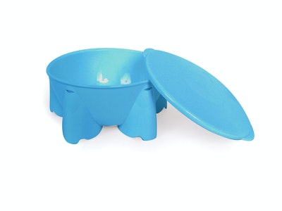 Steadyco Lets Eat Snack Pot & Lid Blue