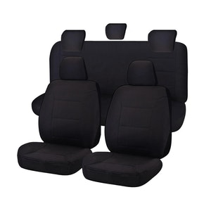 Challenger Car Seat Covers For Toyota Hilux Dual Cab Utility 2005-2016 | Black