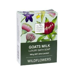 The Australian Cosmetics Company Goats Milk Bath Soap Wild Flowers 100g Boxed