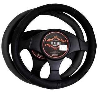 Miami Steering Wheel Cover - Grey [Leather]
