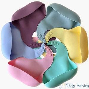 Tidy Babies  Silicone Baby Feeding Bib