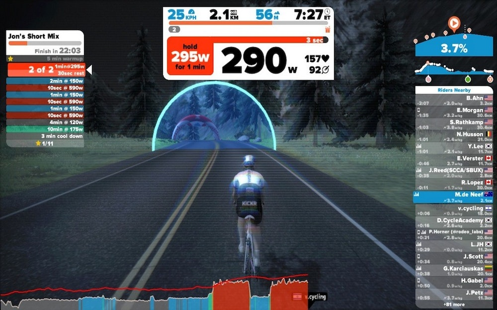 Zwift workout 2