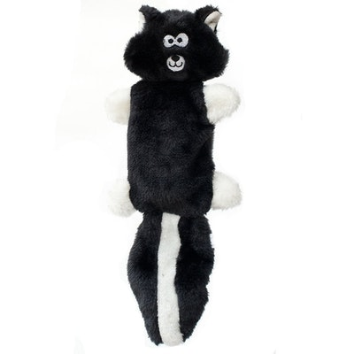 Zippy Paws ZippyPaws - Zingy No Stuffing Durable Squeaky Plush Dog Toy - Skunk