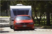 With care lighter caravans allow big family sedans as tow vehicles