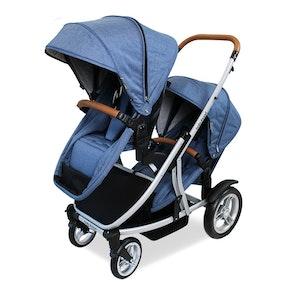Babyhood Doppio Inline Stroller Double - Steel Frame 2017