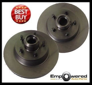 FRONT DISC BRAKE ROTOR PAIR Fits FORD F350 2WD ABS SRW Hub Type 2001-07 RDA7758