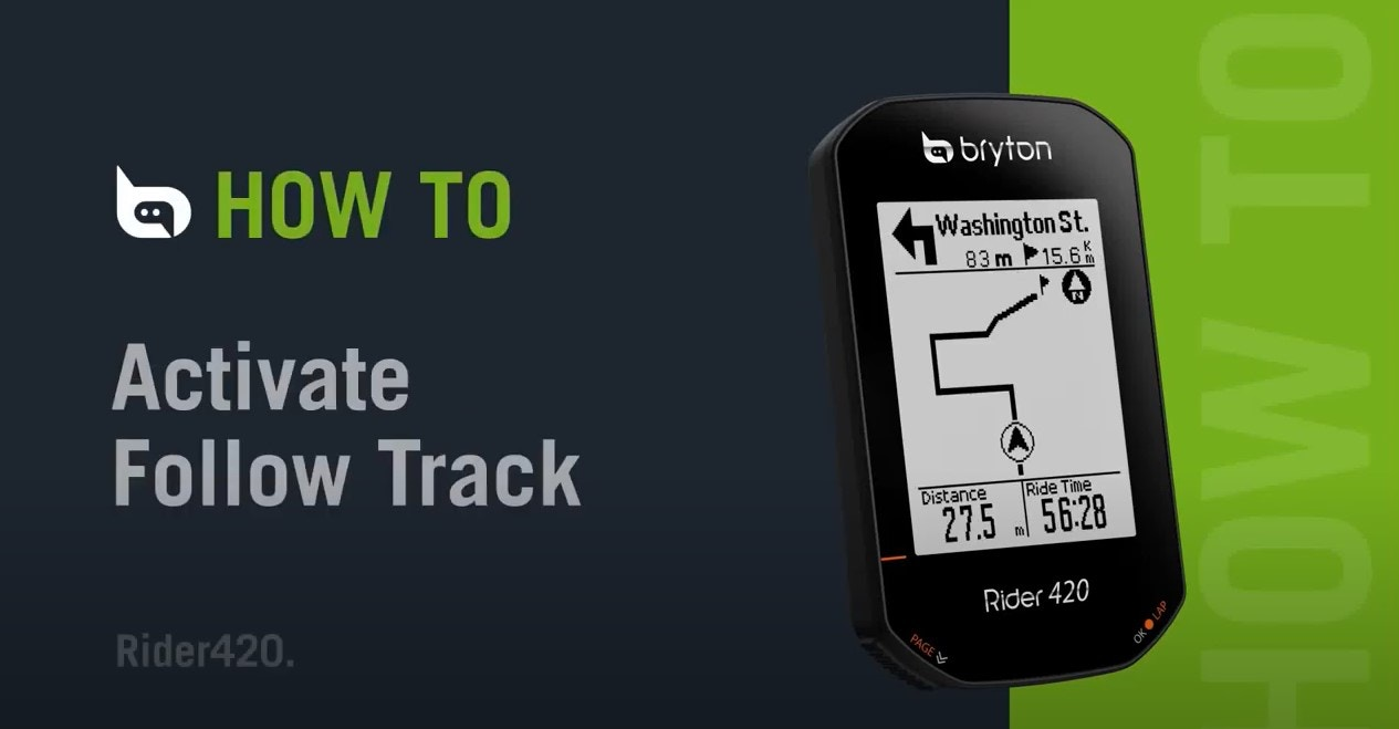 Bryton - Rider 420   How to Active Follow Track