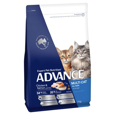 Advance Multi Cat Adult Chicken & Salmon Dry Cat Food