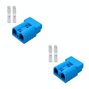 50 amp Anderson Style Plugs (Pair) Blue inc Terminals