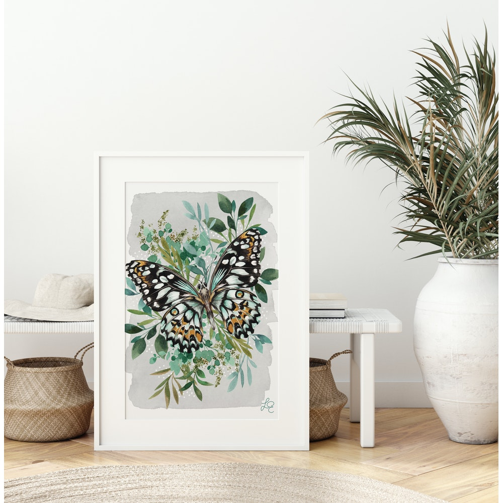 Laura Elizabeth Illustrations Butterfly Fine Art Print