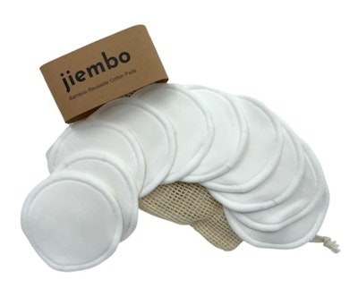 SOUL Self Care  The Jiembo 10 PACK Reusable Bamboo Cotton Pads + Laundry Bag - 5 YEARS SUPPLY 2021