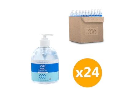 WH Safe *Wholesale* Blue Safety Alcohol-Based Sanitiser Gel (500mL) - 96 Units
