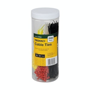 Tridon Cable Tie Pack 100mm & 150mm - Assorted Colours - 500 Pack