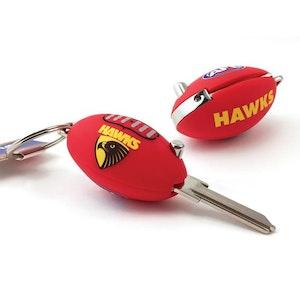 Creative Keys AFL Footy Flip Key Blank with Keyring TE2 – Hawthorn Hawks