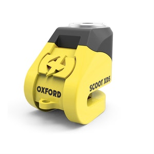 Oxford Scoot XD5 Scooter Disc Lock - Black/ Yellow