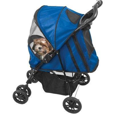 Pet Gear Happy Trails Stroller  Cobalt Blue