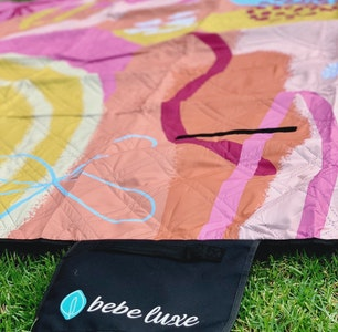 Bebe Luxe Champagne Squiggle Picnic Rug