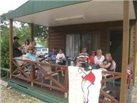 Caravan Parks are great for family reunions Lake Fyans