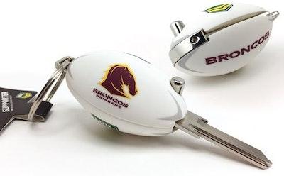 Creative Keys NRL Brisbane Broncos football flip key, LW4 domestic profile key blank (NOT CUT)