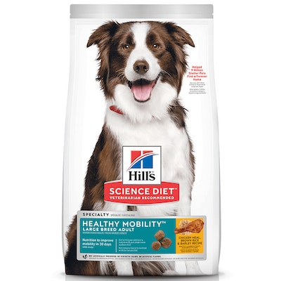Hills Adult Large Breed Healthy Mobility Dry Dog Food Chicken Rice & Barley 12kg