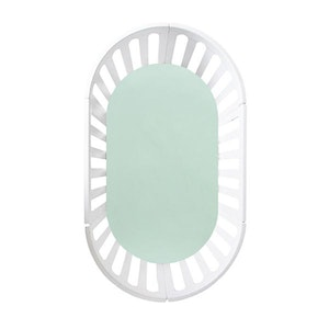 OVAL Cot Fitted Sheet Woven Cotton: MINT