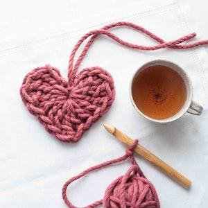 Chunky Heart Crochet Kit (makes 2)