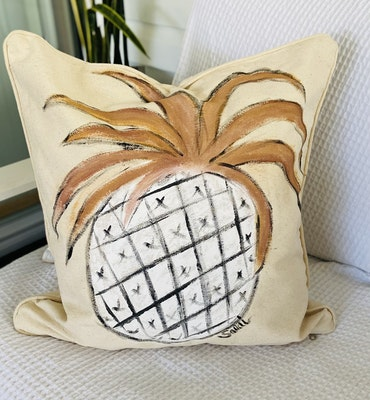 DIYGIRL.SHEDSHOP Handpainted original Cushion Covers Only (no inserts to allow for easy shipping )