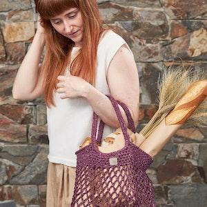 Weaverbird • Market Bag • Crochet • Colour: CURRANT
