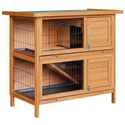 2 Story 82cm Wooden Rabbit/Guinea Pig Hutch