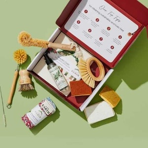 Us and the Earth Eco Cleaning Box   Sparkle Sustainably !