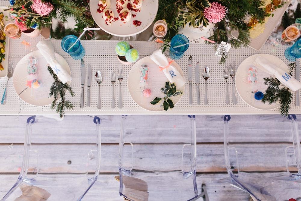 LENZO Christmas Editorial Table Setting Kas Richards Photography