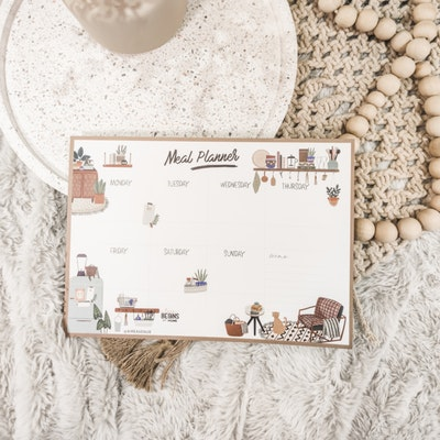 Aire Avenue Meal Planner Tear-Off Notepad