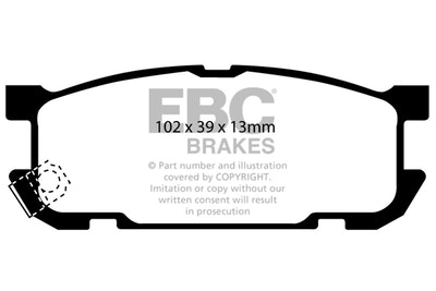 EBC YELLOWSTUFF REAR BRAKE PADS for Mazda MX5 NB2 Sport 2000-8/2005 DP41453
