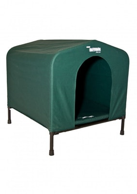 Hound House Kennel Mat Carry Case Portable Dog House Green Small