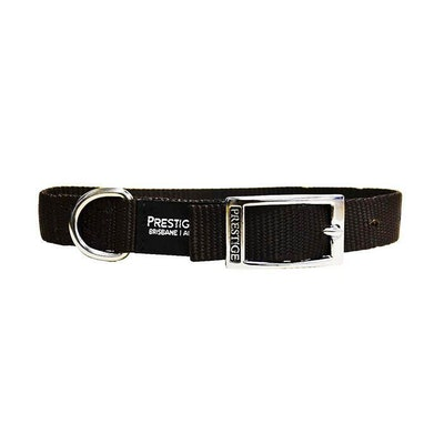 Prestige Pet Products Prestige Pet Single Layer Nylon Adjustable Dog Collar Brown 1 Inch - 5 Sizes