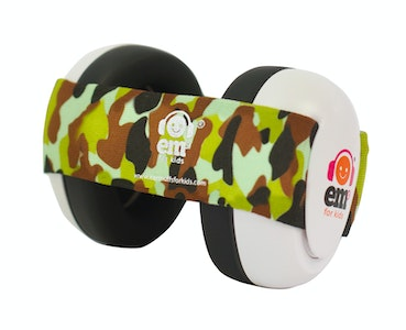 Ems for Kids BABY Earmuffs - ARMY CAMO on White