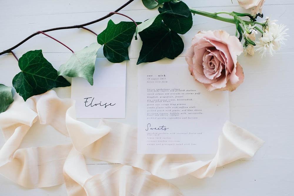LENZO Boho wedding stationery Paige Tuzee