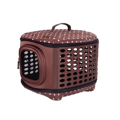 Ibiyaya Collapsible Traveling Pet Hand Carrier - Brown