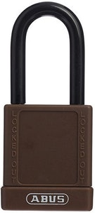 ABUS 74/40 Lock Out Tag Out (LOTO) lightweight aluminium padlock with brown vinyl encased body keyed to differ