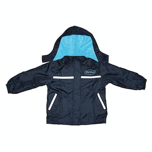 Silly Billyz Small Aqua/Navy Waterproof Jacket
