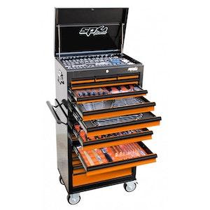 SP50110OR Tool Kit 377 Piece Metric/SAE Custom Series BLACK/ORANGE SP50110OR