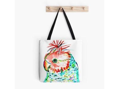 Iconic Colours Tote Bag- Outstanding Gang Gang Cockatoo