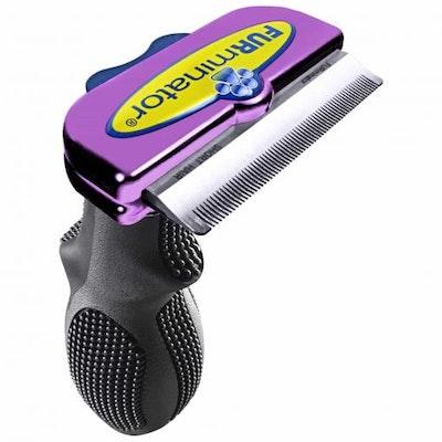 Furminator - DeShedding Tool - Short Hair Large Cat - Metallic Purple