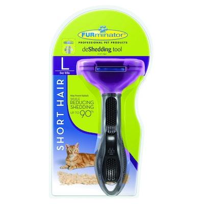 Furminator Cat Short Hair Large Purple Metallic