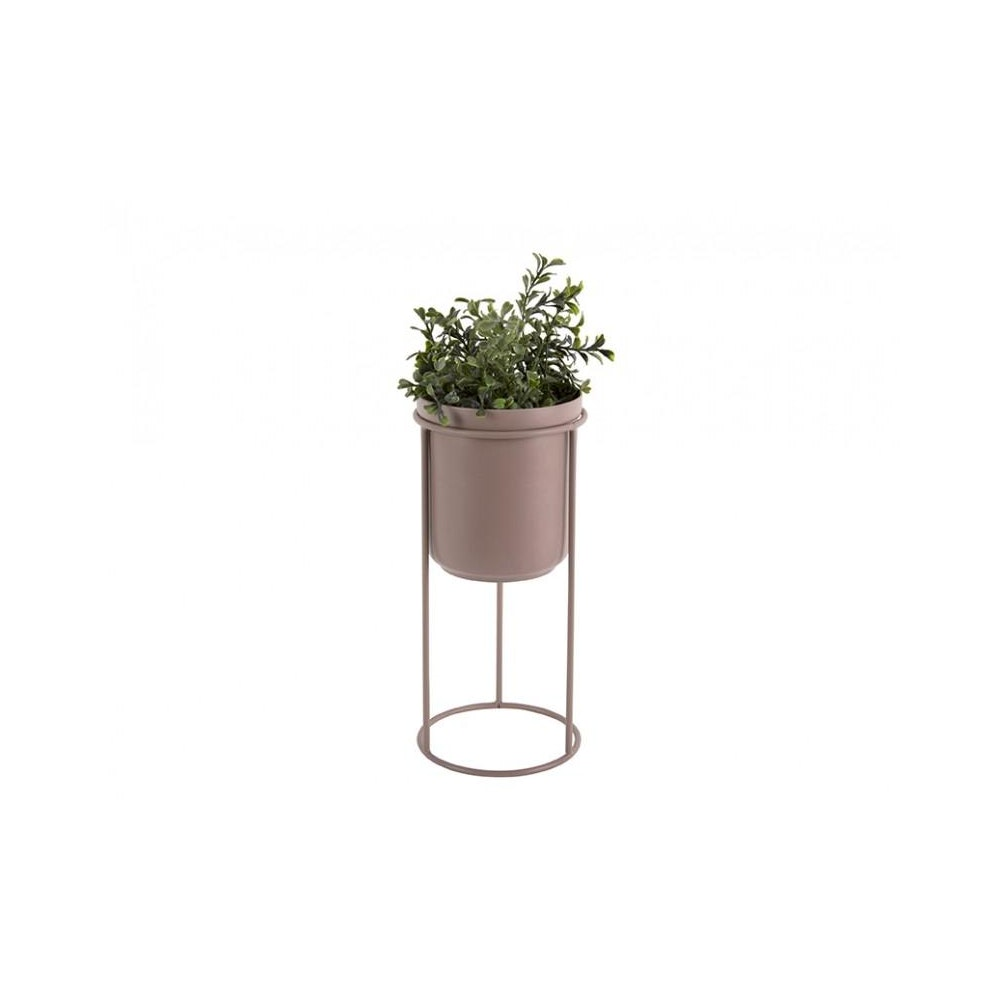 Pretty Cactus Plants  Metal Plant Tub On Stand - Faded Pink - 18cm Diameter