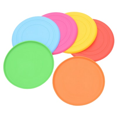 Xpetisland Silicone Rubber Frisbee Pet Dog Safe Exercise Flying Disc