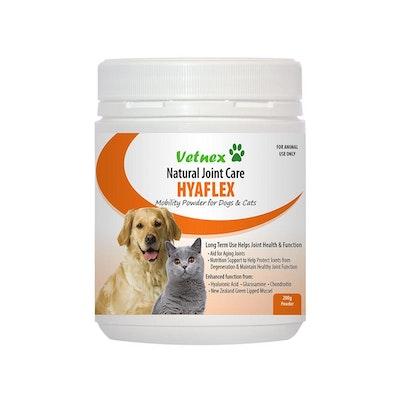 VETNEX Hyaflex Mobility Powder For Dogs & Cats 200G
